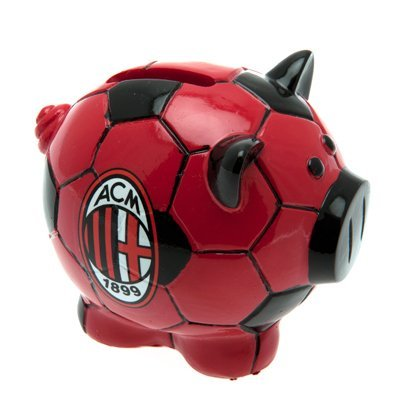 AC Milan FC Football Base Piggy Bank Red Black Italian Soccer Serie A Official -