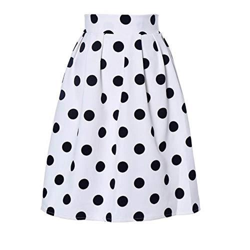 Zottom Frauen Kleider, Figurbetonter Tupfen-Regenschirm-Rock-Retro Hauch-Röcke M❦Freizeitkleider -
