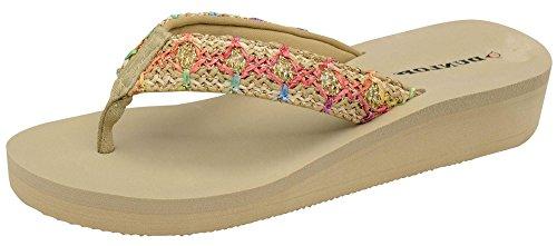 ladies-dunlop-low-wedge-multi-platform-summer-slip-on-toe-post-flipflops-sandals-shoes-size-3-8-7-uk