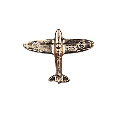 nuohuilekeji Unisex Fashion Flugzeug Modell Geknöpfter Kragen Clip Brosche Pin Party Schmuck-Golden