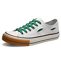 Hiking Walking Shoes Men Athletic Shoes For Sport Shoes Lace Up Style Cloth Fabric Breathable Round Toe Outdoor Leisure (Color : White Green, Size : 42 EU)