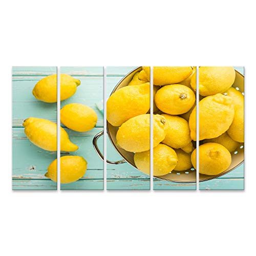 islandburner, Cuadro Cuadros Limones Frescos en escurridor Retro Impresión Lienzo Formato Grande Cuadros Modernos Ref