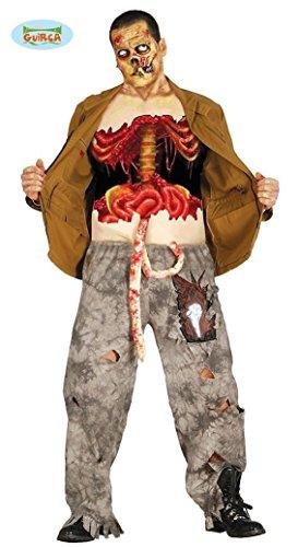oween Kostüm mit Eingeweiden für Herren Zombiekostüm Halloweenkostüm Horror Herrenkostün Gr. M/L, Größe:L (Blutige Halloween-kostüme)
