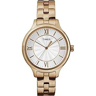 Timex Reloj Analógico-Digital para Mujer de Cuarzo con Correa en Acero Inoxidable TW2R28000