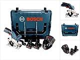 Bosch GKS 12V-26 Professional Scie circulaire sans fil avec boîtier L-Boxx + 2 x Batteries GBA 12 V 4,0 Ah + 1 x Chargeur GAL 1230