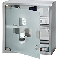 Fastcar Wall Mounted Lockable Stainless Steel Medicine Cabinet with 2 Shelves & Frosted Glass Door (Approx. 30... preisvergleich bei billige-tabletten.eu