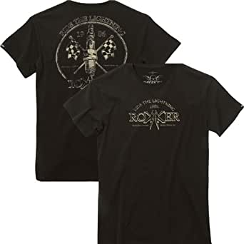 Original Rokker Biker T-Shirt Ride the Lightning schwarz - USA - High Quality Print - Neu - Top Qualität, Farbe:Schwarz;Größe:XXL