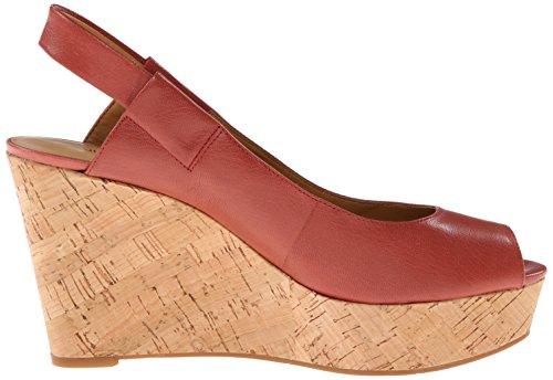 Nine West Cantalope Damen Leder Keilabsätze Sandale PnkOrg