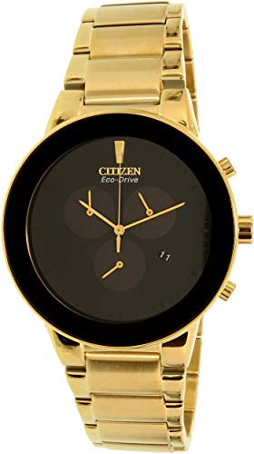 Citizen AT224255E Mens Axiom Gold-Tone Eco-Drive Dress Watch AT2242-55E