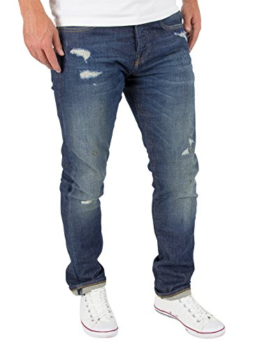 Scotch & Soda Herren Jeanshose 137647 Ralston - Ride Out Blau