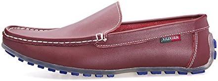 Zapatos de Cuero de conducción Casual de los Hombres clásicos Mocasín
