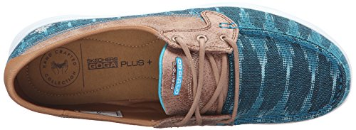 Skechers Performance On-the-go Flagship Slip-on Boat Shoe Teal Ikat