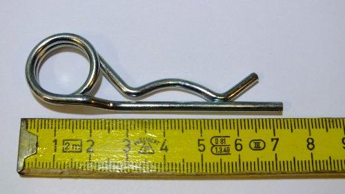 Federstecker doppelt, 3 mm, 100 Stück, verzinkt