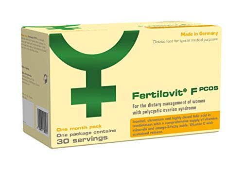 Fertilovit PCOS | 60 Kapseln + 30 Sticks für 30 Tage | zur diätetischen Behandlung von Frauen mit Polyzystischem Ovarsyndrom bei Kinderwunsch / Inositole, Vitamine