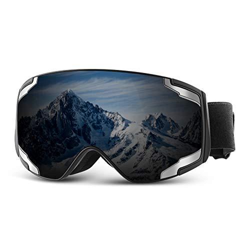Extra Mile Premium Skibrille,Snowboardbrille mit Beschlag Skibrille Verspiegelt für Herren und Damen