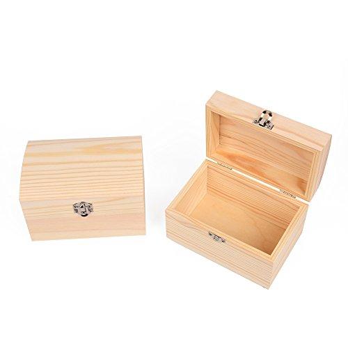 Juego-de-2-cajas-del-tesoro-de-madera-tambin-para-pintar-madera-Bales-Cofre-del-Tesoro-joyero