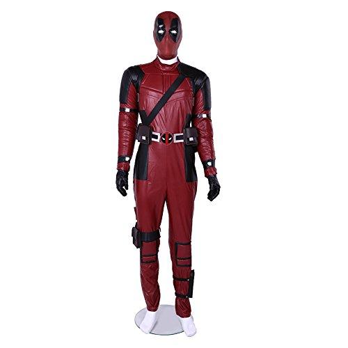 DP Superhero Overall Classic Rot Schwarz Halloween Cosplay Dress Up Kostüm Männlich L