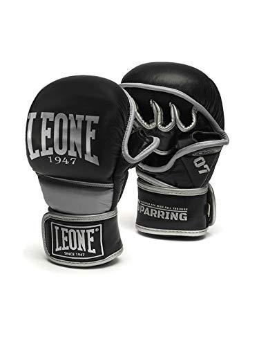 Leone 1947 Sparring, Guanti da MMA Unisex – Adulto, Nero, M