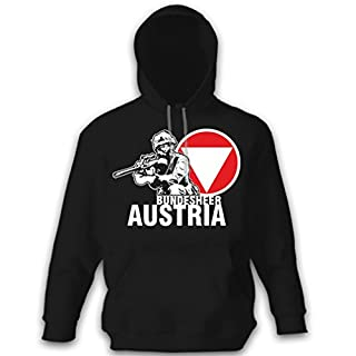 Austria German Army Austrian Armed Forces Soldier Steyr Aug Rifle-Pullover Hoodie # 12873 - Black - Large