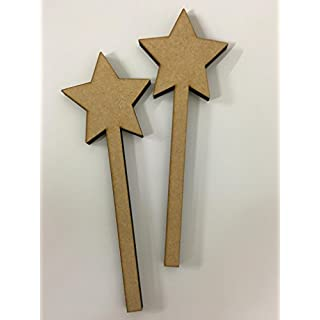 Blank Wooden Princess Fairy Wand 150mm - 9mm Medite Premier MDF - Pack of 2