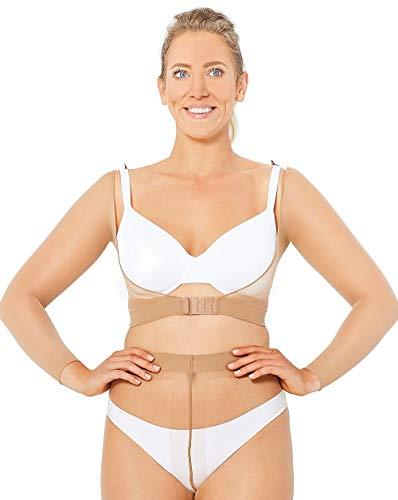 shape me Grace Armshaper Shapewear Anti Cellulite Sofort makellose Schlanke Oberarme, Farbe- Mandel Gr.-36/38