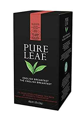 Pure Leaf Thé Noir English Breakfast 25 sachets pyramides - Lot de 2