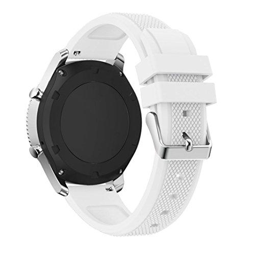 Kaiki für Samsung Gear S3 Frontier Armband,Neue Art- und Weisesport-Silikon-Armband-Bügel-Band für Samsung Gear S3 Frontier (White)
