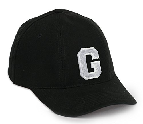 ba8abf4588f09 Casual Baseball Cap A-Z Letter Alphabet Embroidered hat hats caps  adjustable strap Snap back (G