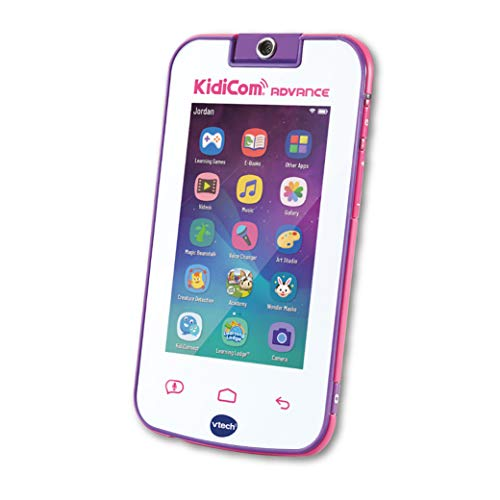Vtech Kidicom Advance Kids Mobile Device, Learning Toy & Safe Communication Device Featuring e-Books, Camera, Children-Friendly Apps, Games and More, for Boys & Girls, 3, 4, 5, 6+ Year Olds, Pink