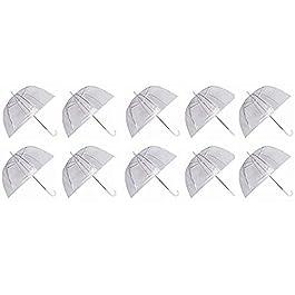 Ardisle Set di 10 ombrelli a cupola a forma di gabbia Matrimonio plastico trasparente in PVC trasparente