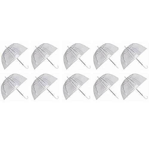 Ardisle Ardisle Set von 10 Regen Regenschirme Dome Birdcage Klar Transparent PVC Kunststoff Hochzeit
