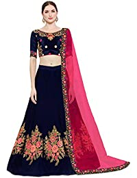 c565a9fb872ea7 KEDARFAB Women s Cotton Silk Embroidery Lehenga Choli with Blouse Piece  (Free Size