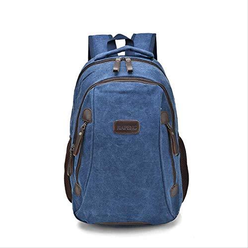 Uomo e zaini delle donne, outdoor multi-funzione del computer Borse, Tela Viaggi indossano zaini resistenti, leggero Montagna Bag 44x13x32cm Blu (Color : Blue-44x13x32cm)