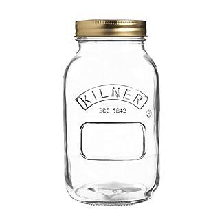 Kilner Preserve, Jam, Chutney Jar, Clear, 1 Litre