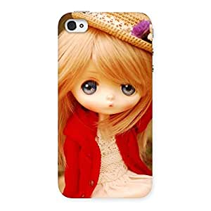 Angel Wearing Hat Multicolor Back Case Cover for iPhone 4 4s