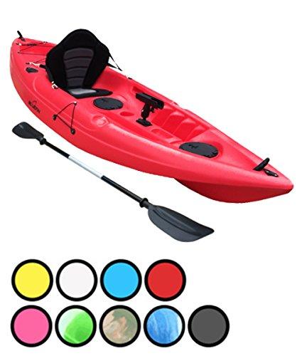 Bluefin Kayak Pesca para una Sola Persona o Dos. con Soportes para caña de Pescar, escotillas, Asiento Acolchado y Remo,...