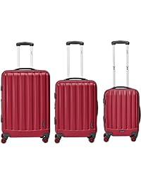 Packenger Velvet Koffer, Trolley, Hartschale  3er-Set, Größe M, L und XL