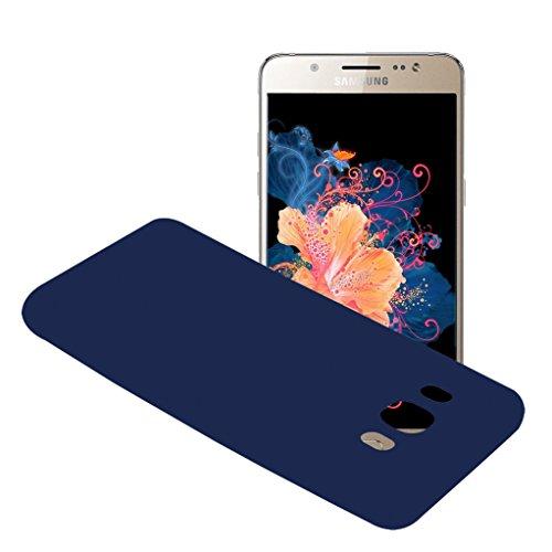 Funda Samsung Galaxy J5 2016 SM-J510F, Yunbaozi Protective Case Carcasa Caucho Funda Protectora de Silicona Gelatina Caramelo Ultra Suave Flexible Delgado Carcasa para Samsung Galaxy J5 2016 SM-J510F - Azul