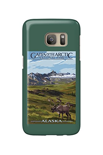 Gates of the Arctic National Park, Alaska - Caribou and Mountains (Galaxy S7 Cell Phone Case, Slim Barely There) (Arctic National Park)