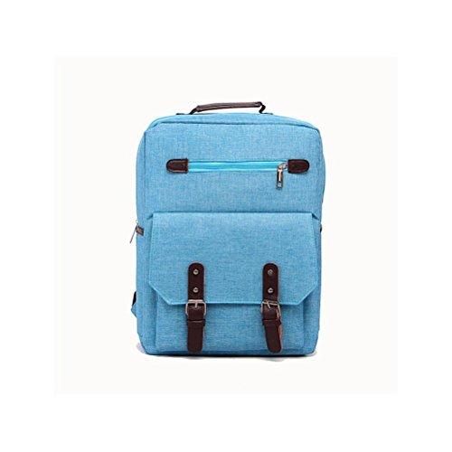 Backpack 20L-35L Tela Zaino per Scuola Viaggio Lavoro , khaki blue