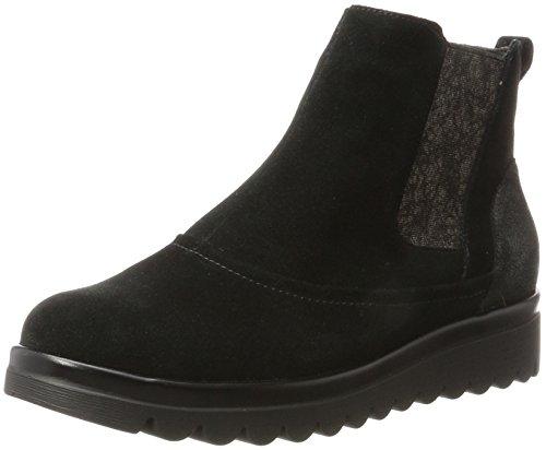 Waldläufer Hodaya, Damen Chelsea Boots, Schwarz (Velour Glitter Schwarz Nero), 38 EU (5 UK)
