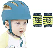 LILTOES Baby Safety Helmet with Kneepad Royal Blue