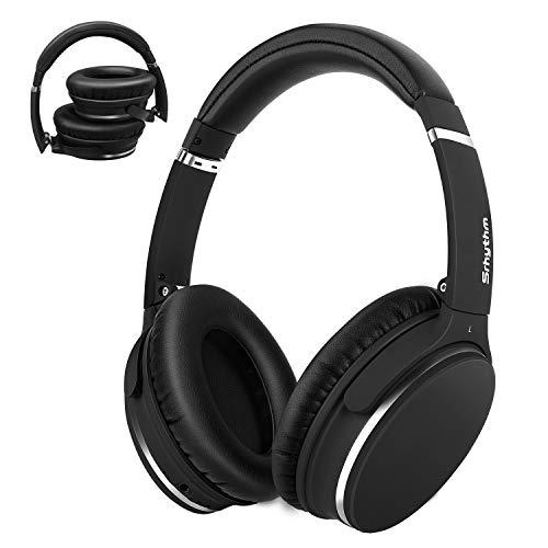 Noise Cancelling Kopfhörer Leichte,Srhythm NC25 Over Ear ANC Kopfhoerer Bluetooth Kabellos Faltbar mit Duale 40 mm HD Tieftontöner,Eingebaut Mikro,HiFi,CVC6.0 für Alle Geräte mit Bluetooth