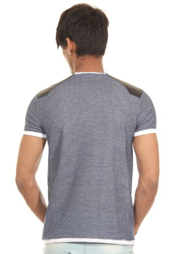 R-NEAL T-Shirt Rundhals slim fit Blau