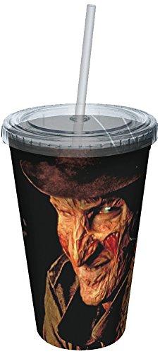 Plastique Mug – Nightmare on Elm Street – Freddy Stare Tasse W/paille de nouveaux Jouets 8378