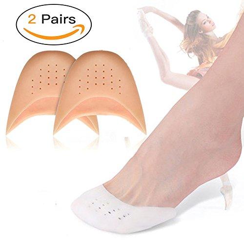 Almohadillas gel silicona dedos pies, 2 pares protectores
