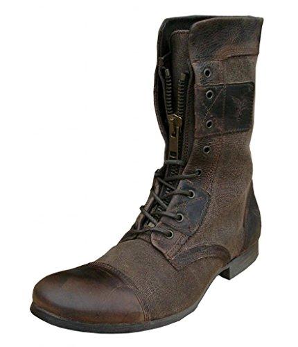 LL1 Henleys Footwear Sakura Herren Leder Stiefel Schuhe Braun Gr. 40