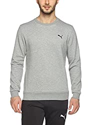 Puma Mens Round Neck Sweatshirt (4056207107758_59124203_X-Large_Medium Grey Heather)