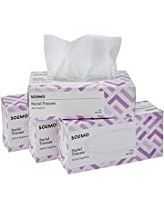 Solimo 2 Ply Facial Tissues Carton Box - 100 Pulls (Pack of 4)