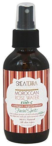 Facial Spritz (Shea Terra Organics - Facial Spritz w/Ester C Moroccan Rose Water - 4 oz. by Shea Terra Organics)
